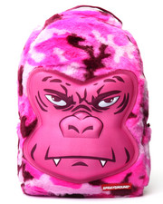 Backpacks - Mini Pink Gorilla Faux Fur Backpack