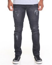 Men - K G Cargo Biker Denim Jeans