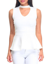 Fashion Lab - Peplum W/V-Neck Top