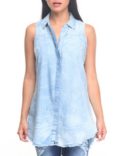 Polos & Button-Downs - Sleeveless Denim Shirt