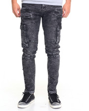 Men - K G Marbled Biker Denim Jeans