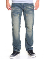 Basic Essentials - Chevron Flap - Pocket Slim - Straight Denim Jeans