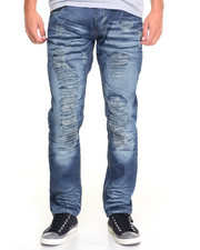 Jeans - Raucous Rip - And - Repair Denim Jeans
