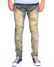Men - Cloudwash Panel Moto Jean