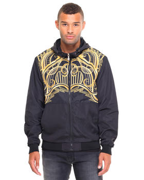 Light Jackets - Gold Deco Hooded Jacket