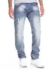Jeans - Oktober Thick - Stitch Flap - Pocket Slim - Straight Denim Jeans