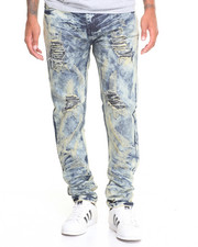 Men - Tie - Dye Slim Straight Denim Jeans