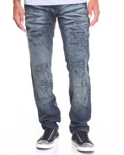 Basic Essentials - Raucous Rip - And - Repair Denim Jeans