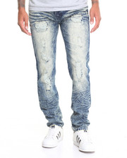 Men - Crinkle - Wash Denim Jeans