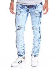 Jeans - Tie - Dye Slim Straight Denim Jeans