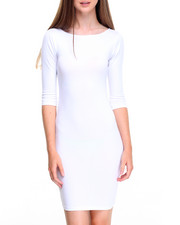 Fashion Lab - 3/4 Sleeve Boat Neck Dress