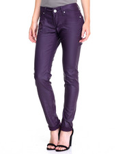 Bottoms - Coated Twill Skinny Jean