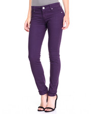 Women - Deep Plum Twill Skinny Jean