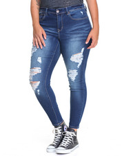 Bottoms - Kenny Heavy Destruction Skinny Jean (plus)
