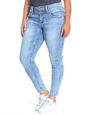 Bottoms - Joplin Skinny Jean (plus)Marble Wash Skinny Jean