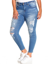 Bottoms - Farrah Heavy Destruction Skinny Jean (Plus)