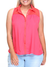 Plus Size - Juice Open Back Sleeveless Top (plus)