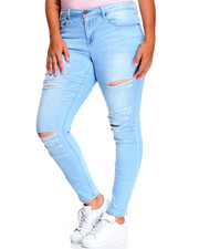 Bottoms - Brianna Skinny Jean W/Destruction (plus)