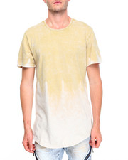 Men - Acid Wash Scallop Tee