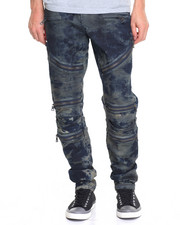 Men - Zip Panel Moto Jean