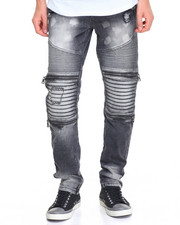 Men - Bleached out Biker Jean