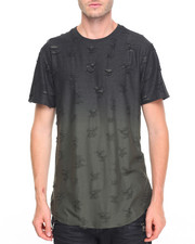 Men - Dip Dye Rip and Tear Tee