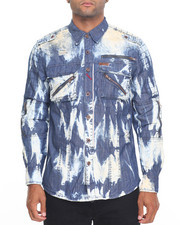Button-downs - Acid Wash Denim Jacket