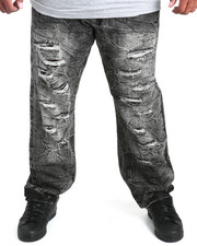 Buyers Picks - Crinkle -Wash Rip & Repair Denim Jeans (B&T)