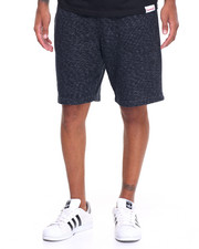 Men - Black Facet Sweatshorts