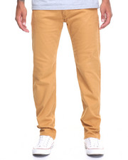 Men - Stretch Fabric Slim Straight Fit Pants