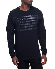 Men - Stars Crackled Flag L/S T-Shirt