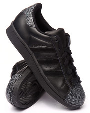 Adidas - Superstar All Black J SNEAKERS (3.5-7)