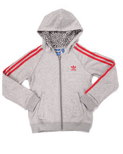 Adidas - Junior Girls FULL ZIP Trefoil HOODY (7-16)