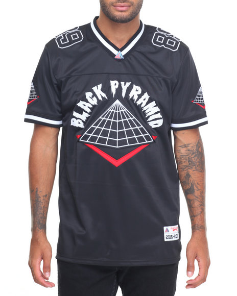 Buy b p home team football jersey men 39 s shirts from black for Black pyramid t shirts for sale