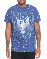 Men - Feather Print & Patched T-Shirt