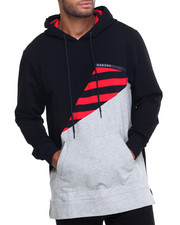 Hoodies - Striped Triangle Pullover Hoodie