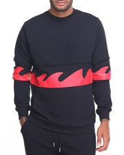 Sweatshirts & Sweaters - WAVES CREWNECK SWEATSHIRT