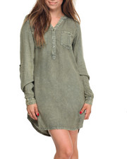 Women - Rayon Shirt Dress