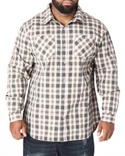 Akademiks - Spring Plaid L/S Button-Down (B&T)