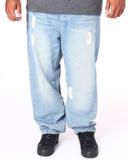 Basic Essentials - Ripped Flap - Pocket Denim Jeans (B&T)