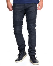 Slim - Waxed Colored Slim - Fit Biker Denim Jeans