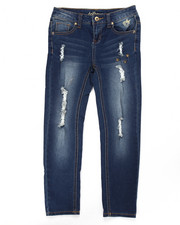 Sizes 7-16 - Big Kids - DISTRESSED SKINNY JEANS (7-16)
