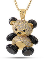 Accessories - 14K Two-Tone CZ Panda Necklace