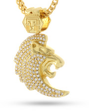 Accessories - 14K Gold Plated Fox Empire Lion Head Necklace