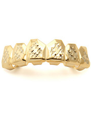 Accessories - Gold Plated Diamond Cut Grillz-Top