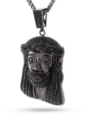 Accessories - Blackout CZ Micro Jesus Piece Necklace