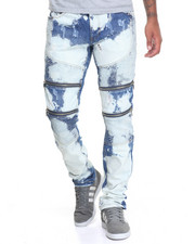 Jeans & Pants - Wild - Wash Moto Denim Jeans