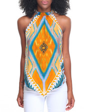 Women - Medallion Placement Print Trapeze Top