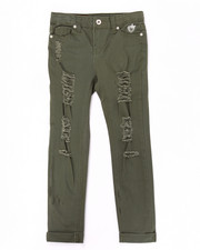 Jeans - DISTRESSED COLORED TWILL JEANS (7-16)