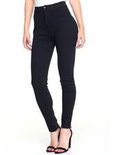 Women - Destructed 1-Button Skinny Jean